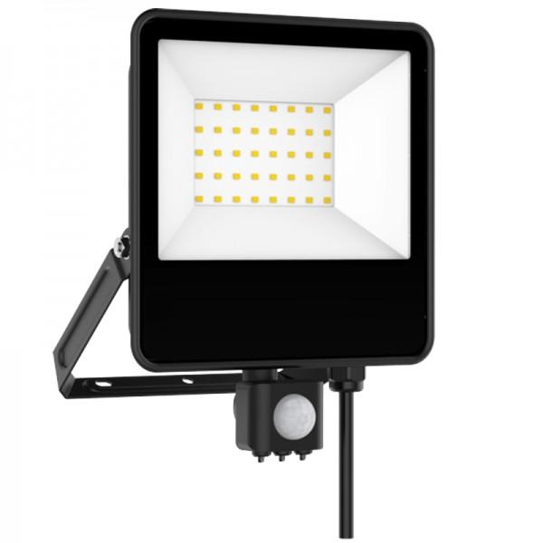 EL198854 |LED FloodLight black SENSOR IP65 L240.5xW180xH29.8mm|50W|4000k|4500lm|enjoySimplicity™