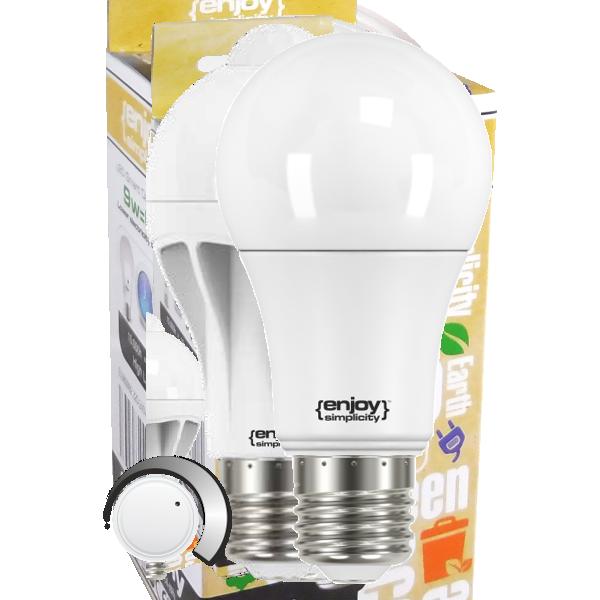 EL101101 | SmartLED A60 CCT ON-OFF 3steps2700-4000-6500k|8.6W(>60W)Ε27|806lm|enjoySimplicity™|Classic