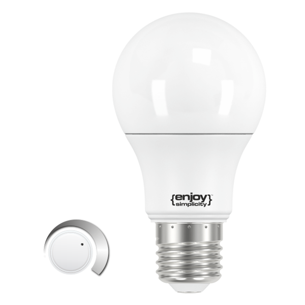 EL101202 | SmartLED A60 ON-OFF 3stepsDIM|11.5W(>75W)Ε27|2700k|1060lm|enjoySimplicity™|Classic