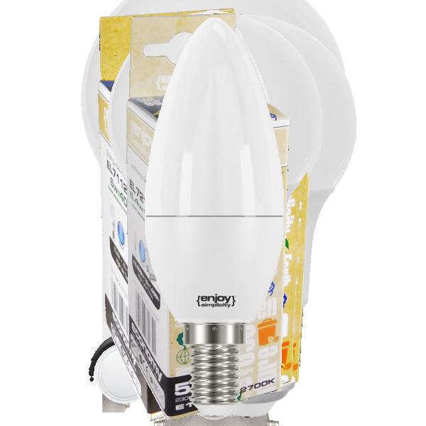 EL102382 | LED B38|7.3W(>60W)Ε14|2700k|806lm|enjoySimplicity™|Classic