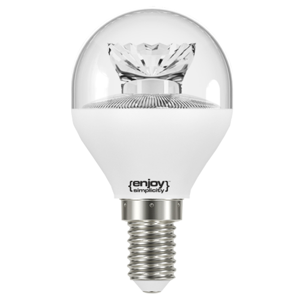 EL732470 | LED Ρ45|5.4W(>40W)Ε14|2700k|470lm|διαφ|enjoySimplicity™|Classic