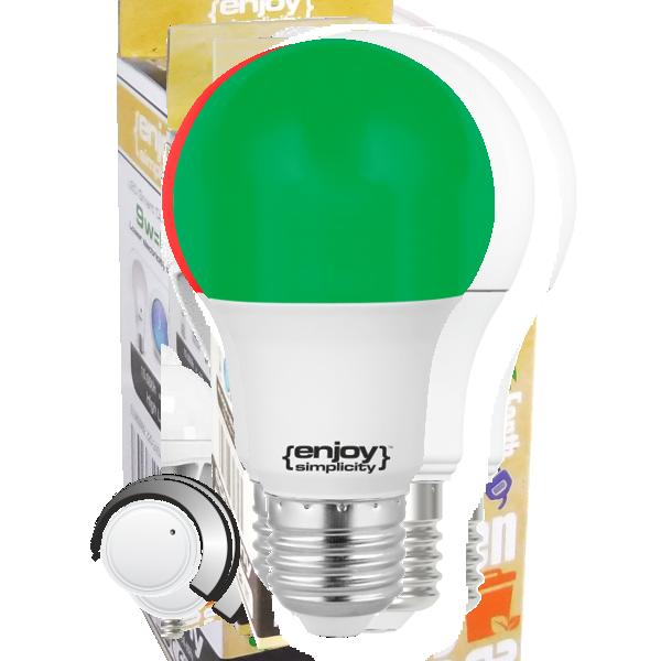 ΕL733709   LED A60 E27 ΠΡΑΣΙΝΟ  6W (>40W) enjoySimplicity™ Standard