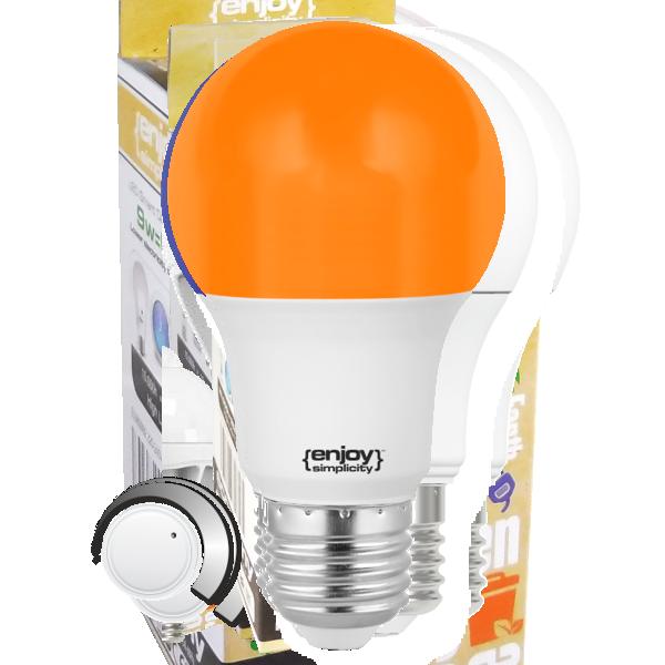 EL733731| LED A60 E27 ΠΟΡΤΟΚΑΛΙ |6W (>40W)|enjoySimplicity™|Standard