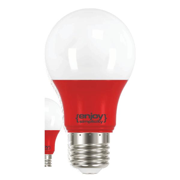 EL733805 |LED A60 E27 OΛΗ ΚΟΚΚΙΝΟ |3.5W (>40W)|enjoySimplicity™|Classic