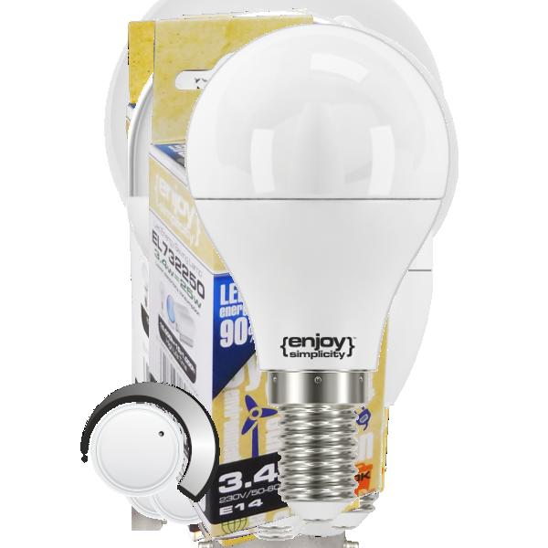 EL794474 | LED Ρ45 DIM|6W(>40W)Ε14|4000k|500lm|enjoySimplicity™|Classic