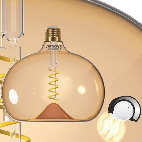 EL822201 | LED SPIRAL FILLAMENT DIM|G190 AMBER 4W E27|2000k|250lm|enjoySimplicity™