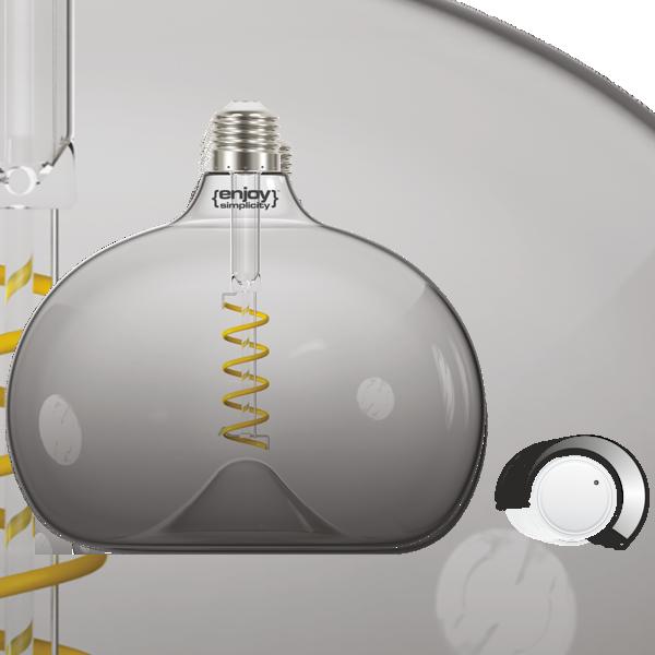 EL822203 | LED SPIRAL FILLAMENT DIM|G190 SMOKY 4W E27|2000k|150lm|enjoySimplicity™