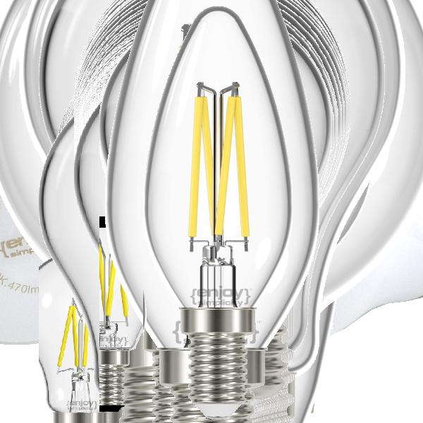 EL822820 | LED FILLAMENT CLEAR|B35 2.3W E14|6500k|250lm|enjoySimplicity™