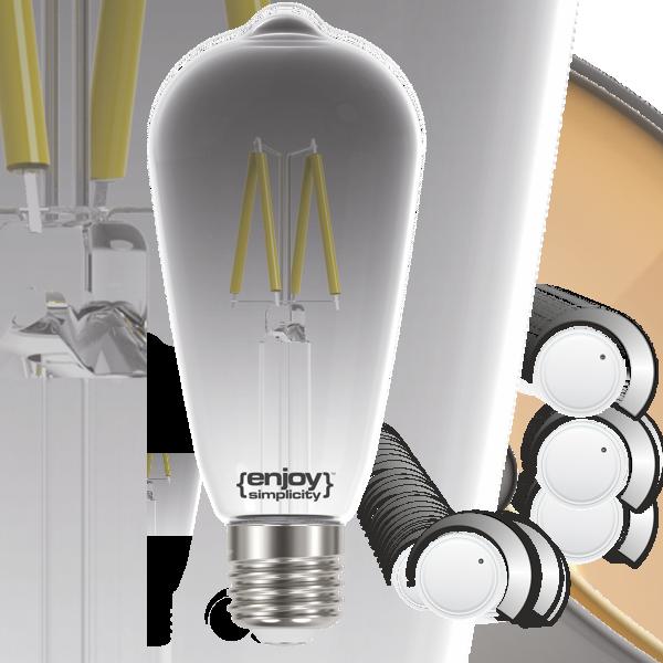 EL822702 | LED SMOKY FILLAMENT DIM|ST64 4.5W E27|4000k|250lm|enjoySimplicity™