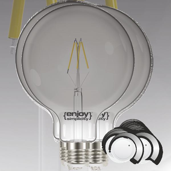 EL822705 | LED SMOKY FILLAMENT DIM|G125 4.5W E27|2000k|180lm|enjoySimplicity™