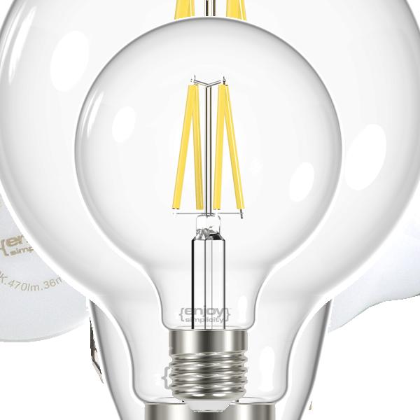 EL822855 | LED FILLAMENT CLEAR|G95 6.7W E27|4000k|806lm|enjoySimplicity™