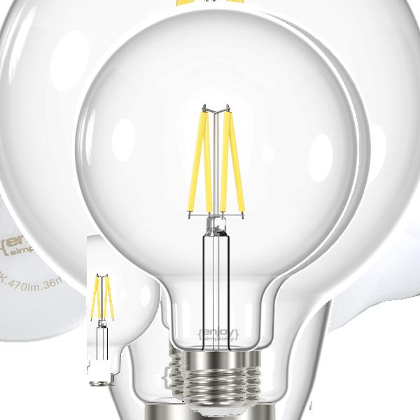 EL822863 | LED FILLAMENT CLEAR|G125 8W E27|2700k|1060lm|enjoySimplicity™