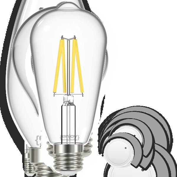EL822920 | LED FILLAMENT CLEAR DIM|ST64 4.8W E27|4000k|470lm|enjoySimplicity™
