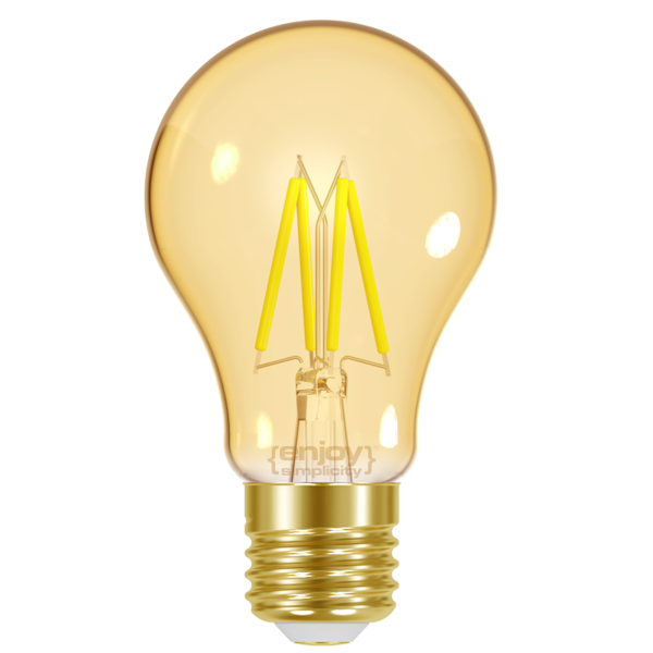 EL825601 | LED FILLAMENT AMBER|A60 4W E27|<2000k|320lm|enjoySimplicity™