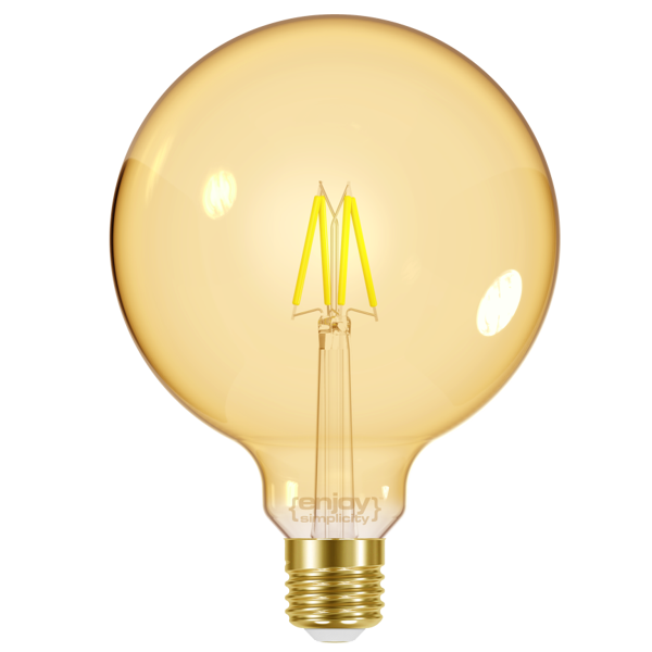 EL825604 | LED FILLAMENT AMBER|G95 4W E27|<2000k|320lm|enjoySimplicity™