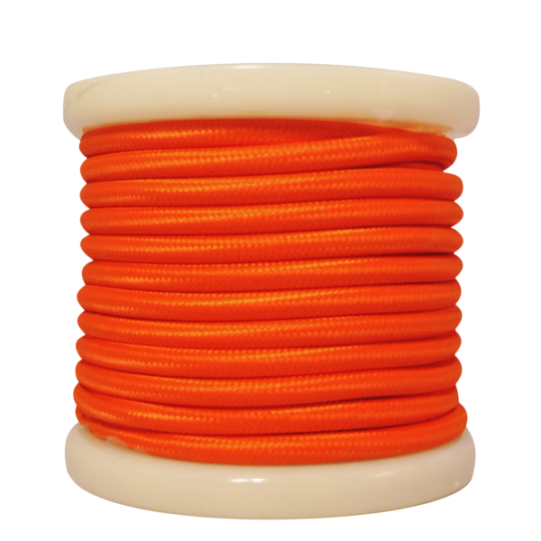 EL330026 | Textile Cable 2x0.75mm²- ρολλό 10mt – Shiny Orange