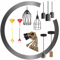 Set: Lampholder-Base-Cable/Rope ● Cages ● Βases
