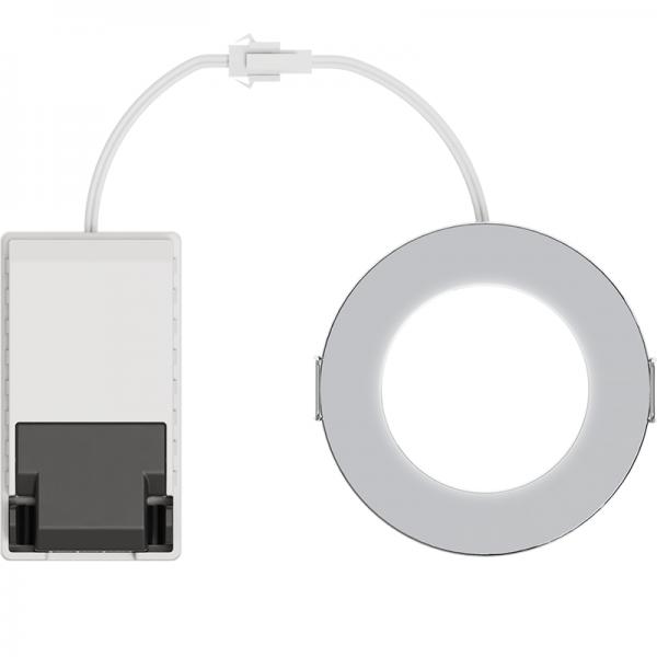 EL191012 | LED DownLight 110⁰ Chrome IP65|4.2W|4000k|480lm|Φ85xh29|+Driver|enjoySimplicity™