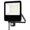 EL198824 | LED FloodLight black SENSOR IP65 L164.6xW135xH29.8mm|20W|4000k|1800lm|enjoySimplicity™