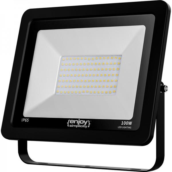 EL197916 | LED FloodLight black IP65|100W|6500k|8000lm|270x210xh33mm|enjoySimplicity™