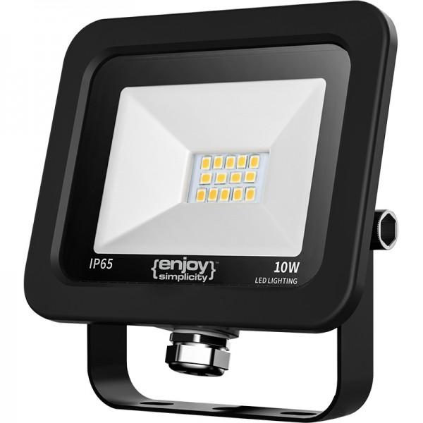EL197124 | LED FloodLight black IP65|10W|4000k|800lm|103x96xh24mm|enjoySimplicity™