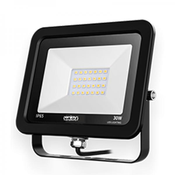 EL197326 | LED FloodLight black IP65|30W|6500k|2400lm|160x138xh26mm|enjoySimplicity™
