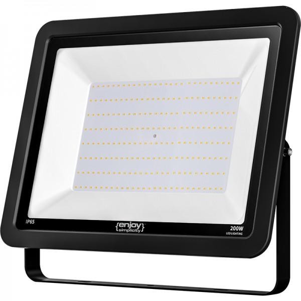 EL197926 | LED FloodLight black IP65|200W|6500k|16000lm|445x345xh35mm|enjoySimplicity™