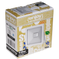 EL197106 | LED FloodLight white IP65 L110xW110xH26mm|10W|6500k|1000lm|enjoySimplicity™