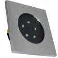 LED ΧΩΝΕΥΤΟ Φ70mm ΤΕΤΡΑΓΩΝΟ ΑΛΟΥΜ.