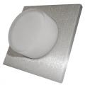 5884 | LED ΧΩΝΕΥΤΟ Φ70mm ΤΕΤΡΑΓΩΝΟ ΑΛΟΥΜ.