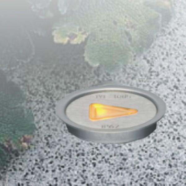 5958 | ΕΥΕLED® QUIDE 5L INOX- LED:0,3W ORANGE