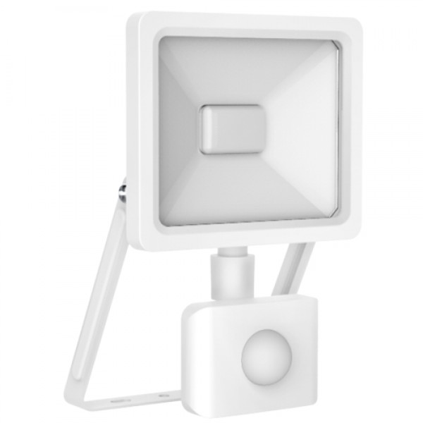 EL198102 | LED Sensor FloodLight white IP65/IP44 L110xW191xH26mm|10W|3000k|900lm|enjoySimplicity™