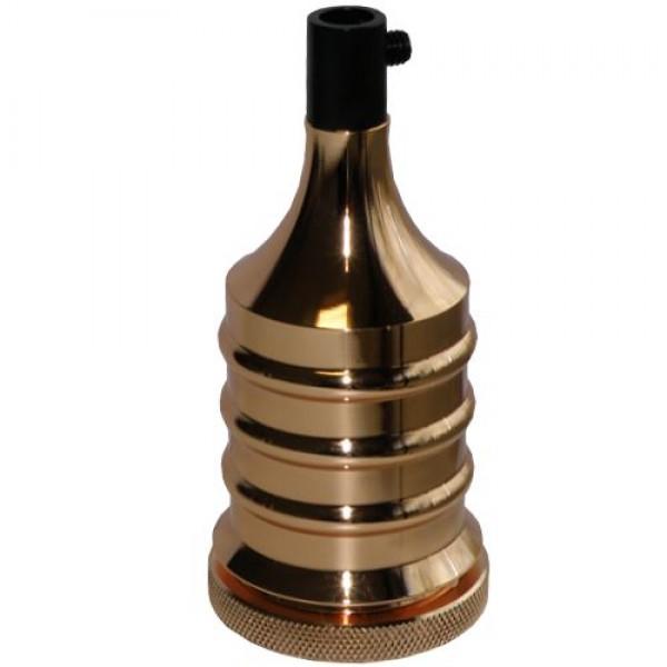EL327417 | Vintage lampholder E27 with plastic inside, Gold shinny