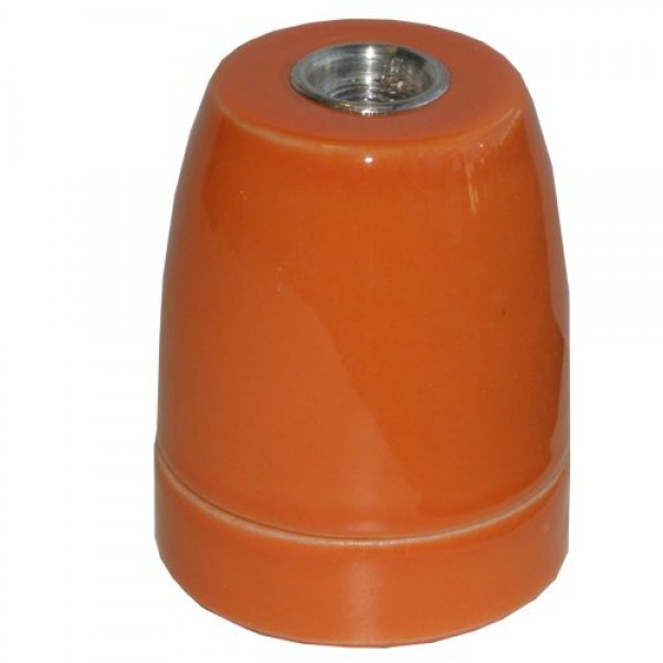 EL427831 | Vintage lampholder E27 porcelain Orange