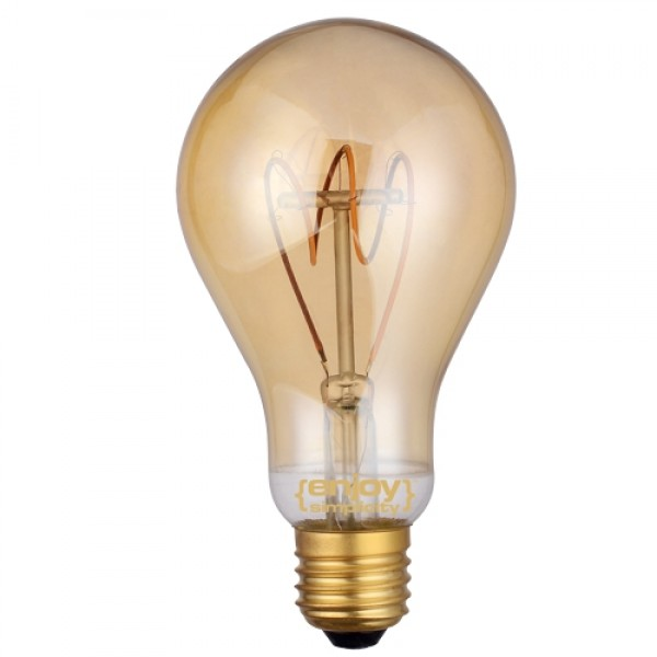 EL822103 | LED FILLAMENT DIM Amber Glass A60|3W Ε27|2200k|150lm|enjoySimplicity™