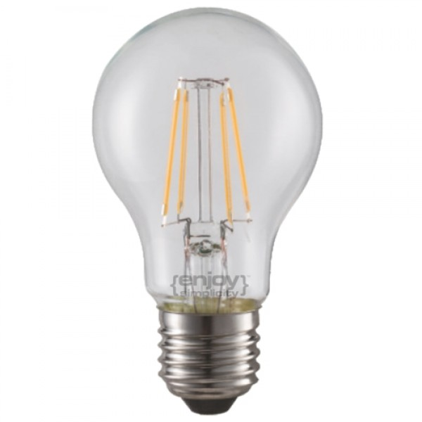EL827001 | LED FILLAMENT DIM CLEAR A60-4|4W Ε27|2700k|410lm|enjoySimplicity™